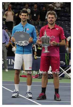 STAN WAWRINKA ,NOVAK DJOKOVIC at Tennis US Open Day 14 at Flushing Meadow Park,Queens 9-11-2016 John Barrett/Globe Photos 2016
