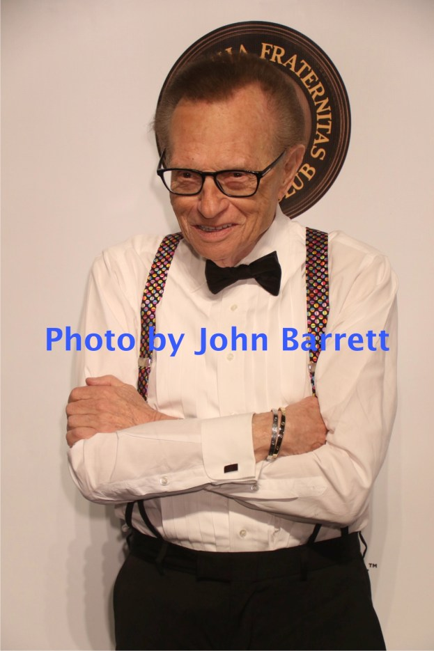 LARRY KING at Martin Scorsese Honored with Friars Club coveted entertainment Icon award at Cipriani Wall street 9-21-2016 John Barrett/Globe Photos 2016