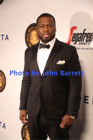 50 CENTS at Martin Scorsese Honored with Friars Club coveted entertainment Icon award at Cipriani Wall street 9-21-2016 John Barrett/Globe Photos 2016