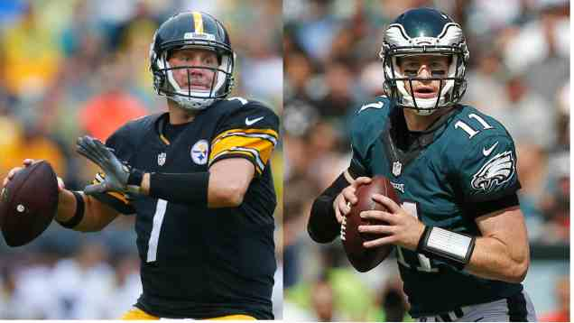 MIRROR IMAGE: EAGLES' CARSON WENTZ AND STEELERS' BIG BEN! | Fast ...