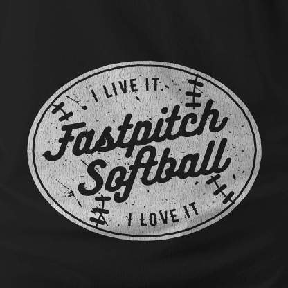 FastpitchSoftball I live it. I love it. - Hoodie