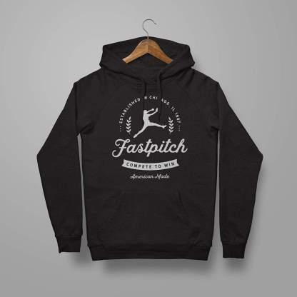 Fastpitch Softball Vintage - Softball Hoodie