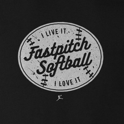 Fastpitch Softball (I live it. I love it.)- Fastpitch Tees Softball Tshirt