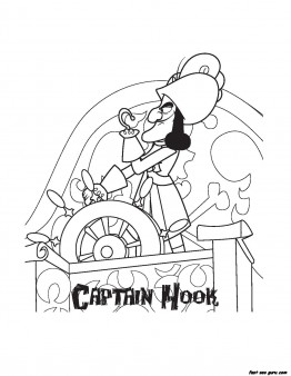 Printable Captain Hook Pirates Coloring Pages Printable