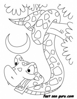 Printable King Cobra Snake Coloring Pages Printable