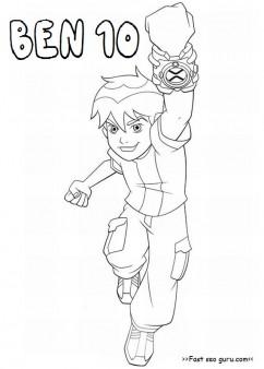Printable Cartoon Ben 10 Coloring Pages Printable