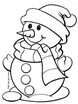 Printable christmas snowman coloring pages for preschool ...   christmas coloring pages for preschoolers