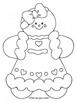 Printable Gingerbread Girl Coloring Pages Printable