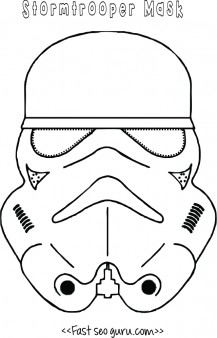 Star Wars Stormtrooper Mask Printable For Kids Printable