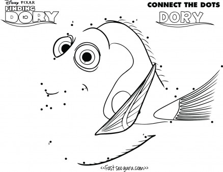 homepage cartoon connect dot to dot printable finding dory