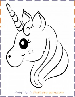 printable unicorn coloring pages # 26