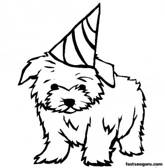 dog printable coloring pages # 15