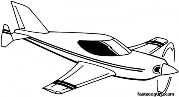 printable coloring pages for kids flying plane printable