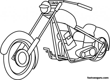 printable motorcycle coloring pages for childrens printable