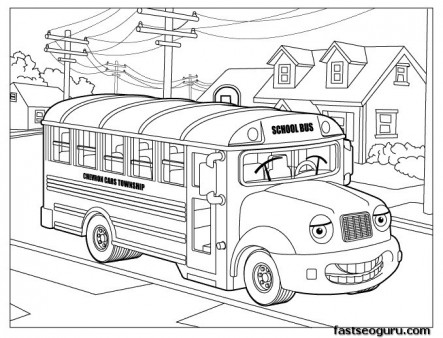 free printable coloring pages school bus printable coloring
