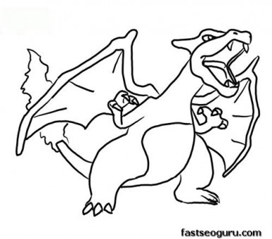 charizard coloring pages printable charizard coloring