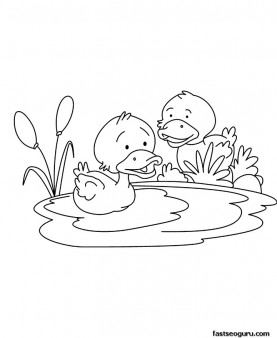 printable baby duck coloring page for childrens printable