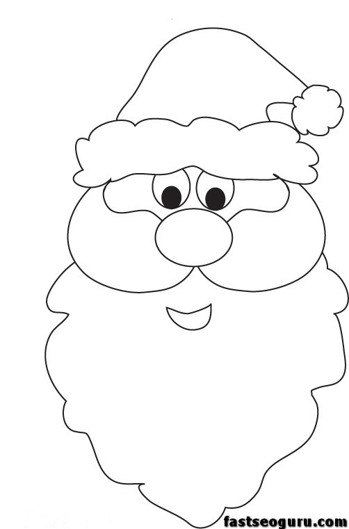 santa face printable coloring pages printable coloring pages for