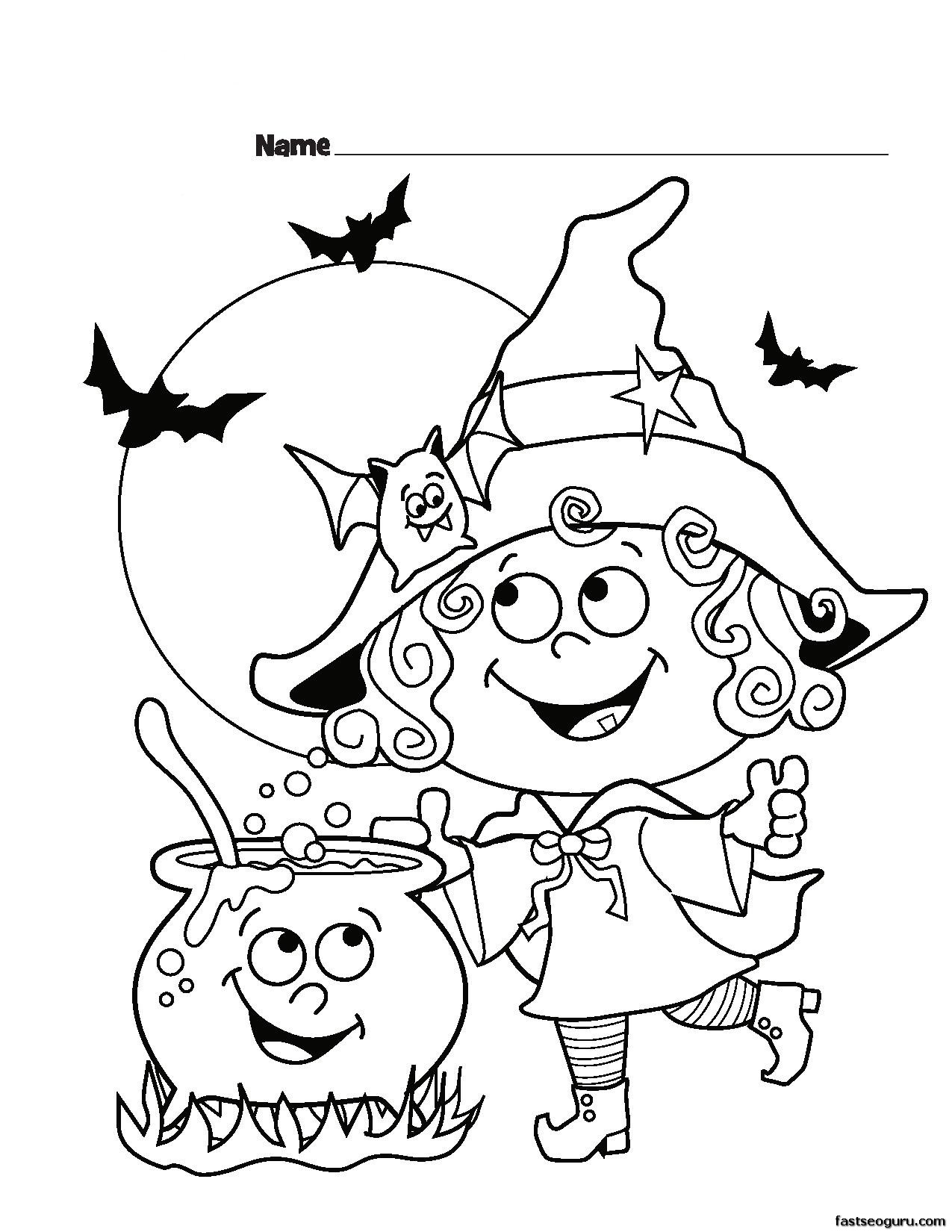 witch printable for