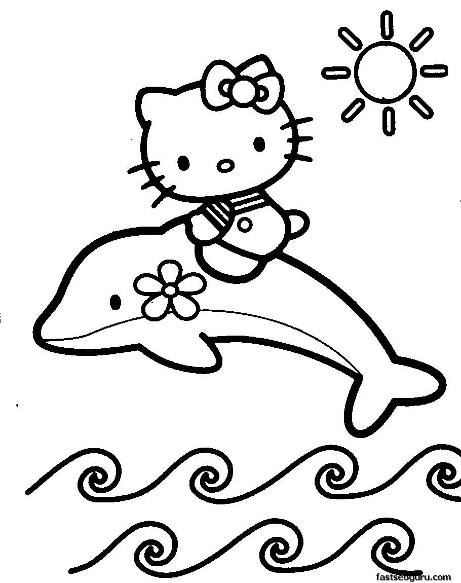 of dolphin with hello kitty