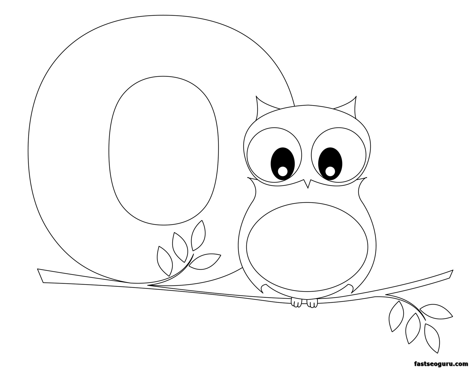 Printable Animal Alphabet Worksheets Letter O Is For Owl
