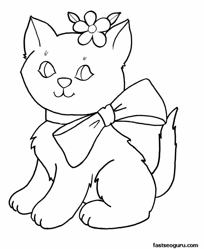 for girls printable cute kittens for girls coloring pages