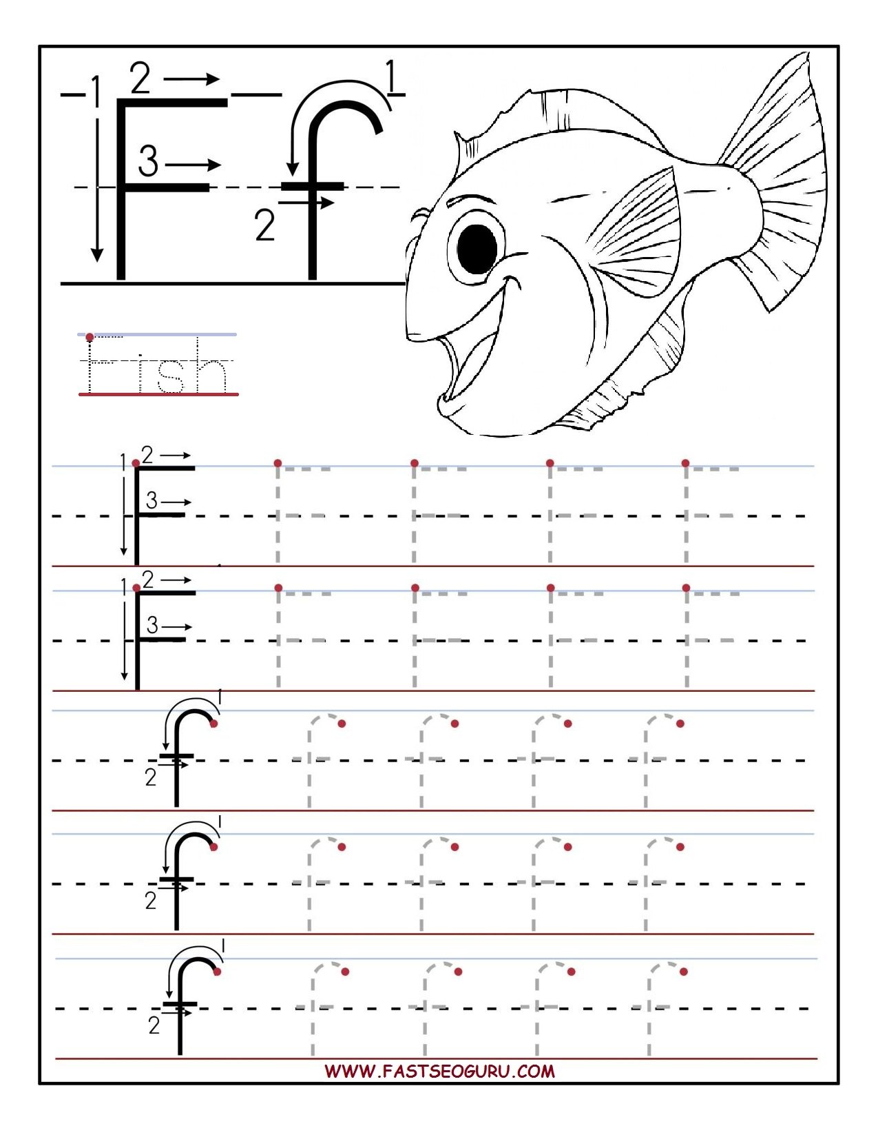 Tracing Worksheets Printable Letters And Worksheets