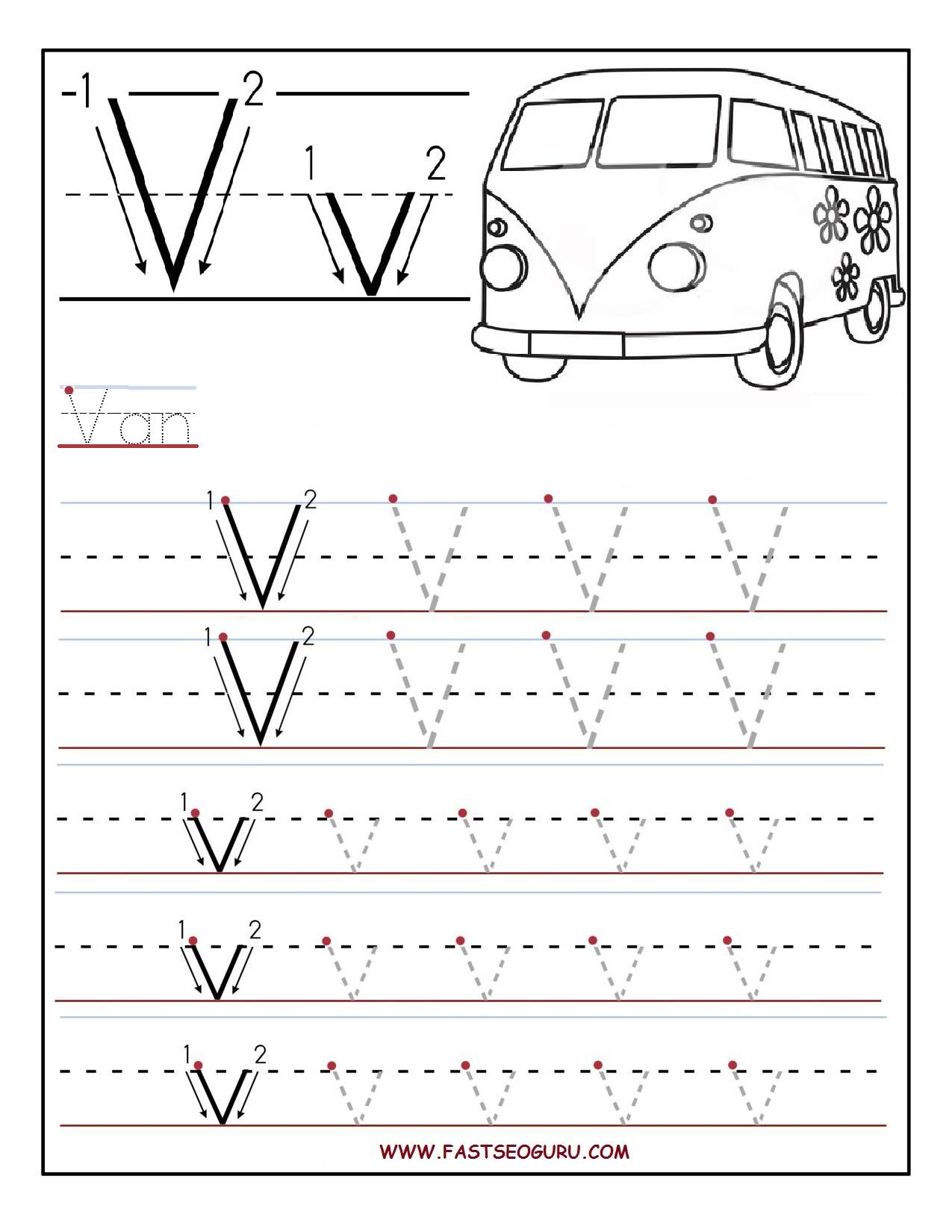 V Worksheet For Preschoolers