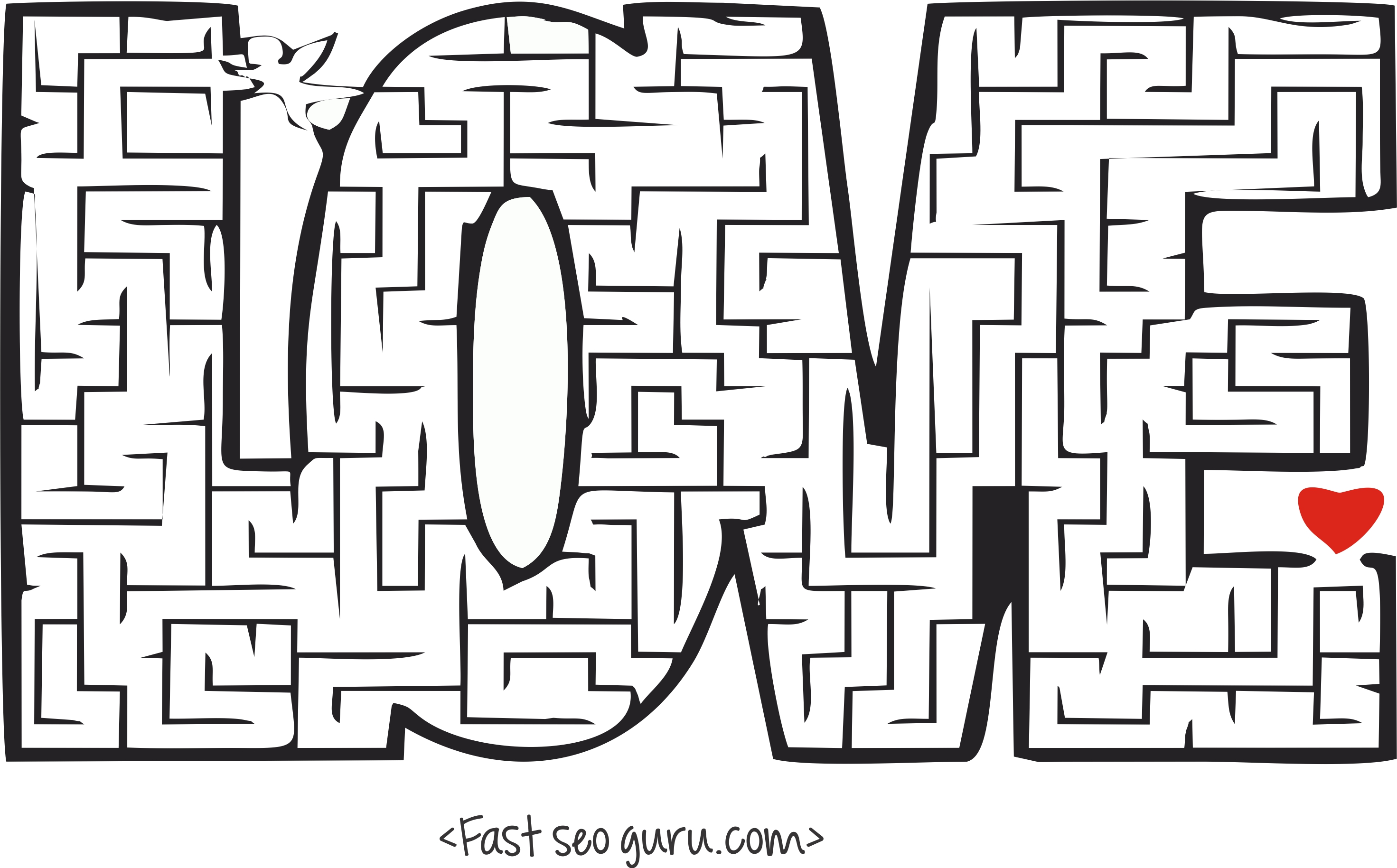 Printable Valentines Day Mazes Puzzles Worksheets