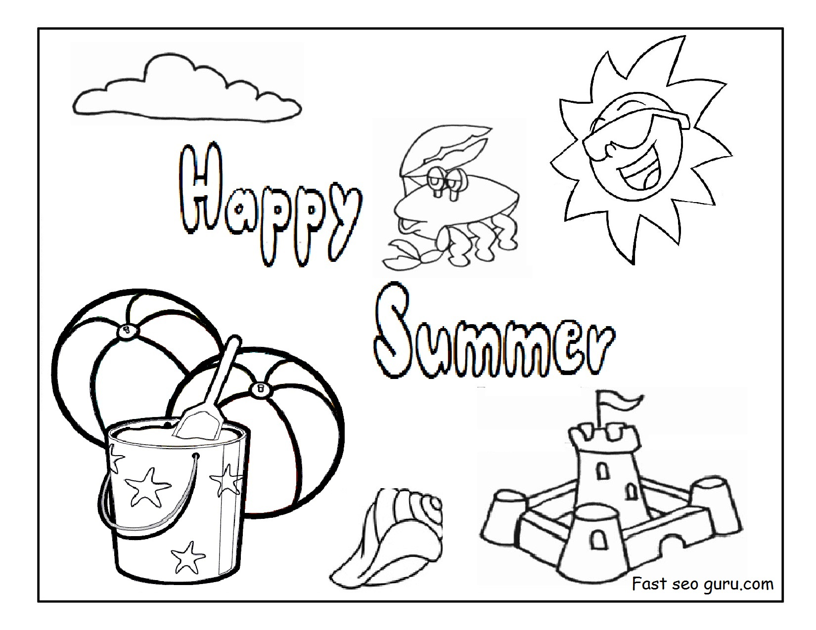 Printable Summer Coloring Pages Coloring Pages