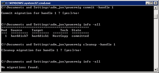 PowerPath Migration Enabler Commit and Cleanup