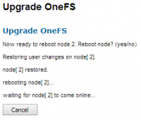 You should be seeing this during the upgrade process...