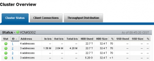 After adding Isilon nodes, the new node is visible and healthy. You can see the difference in used capacity.