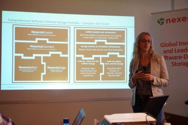 Storage Field Day 6 - Nexenta Product Portfolio, Jill Orhun presenting.