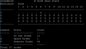 Data Domain disk state unknown