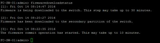 Brocade firmware upgrade downloadstatus