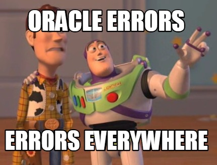Oracle Errors