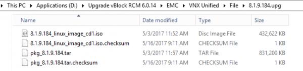 VNX Unified upgrade .upg folder