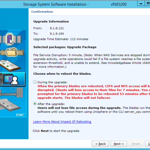 VNX Unified File upgrade .upg version check
