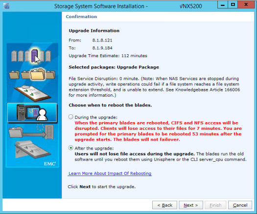 VNX Unified upgrade File .upg version check