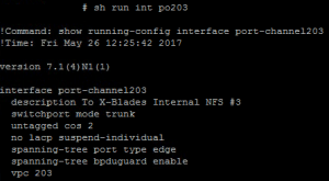 Resulting port-channel config to prevent the individual interface from going suspended