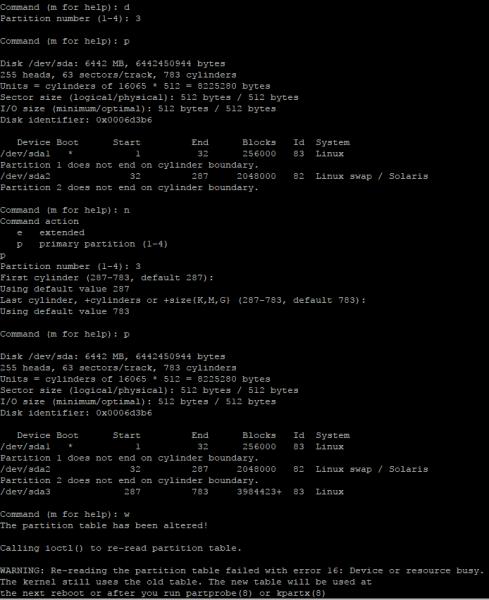 InsightIQ fdisk extend root partition
