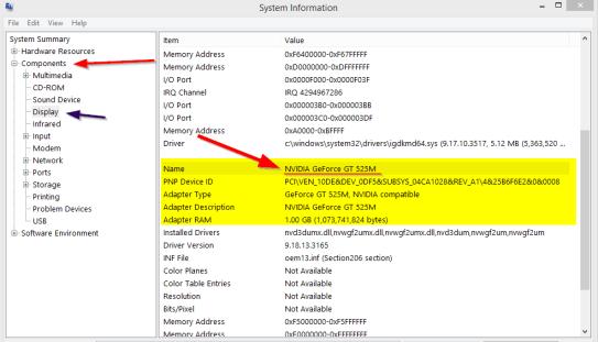 windows 8.1 system info