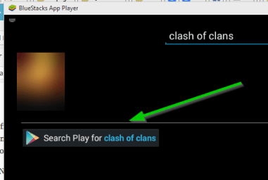 clash of clans search bluestacks