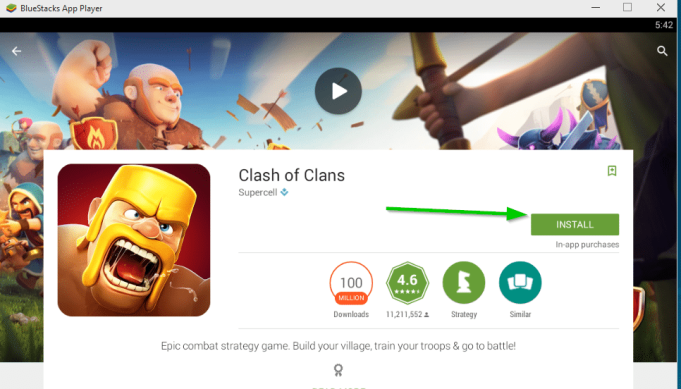 install clash of clans windows