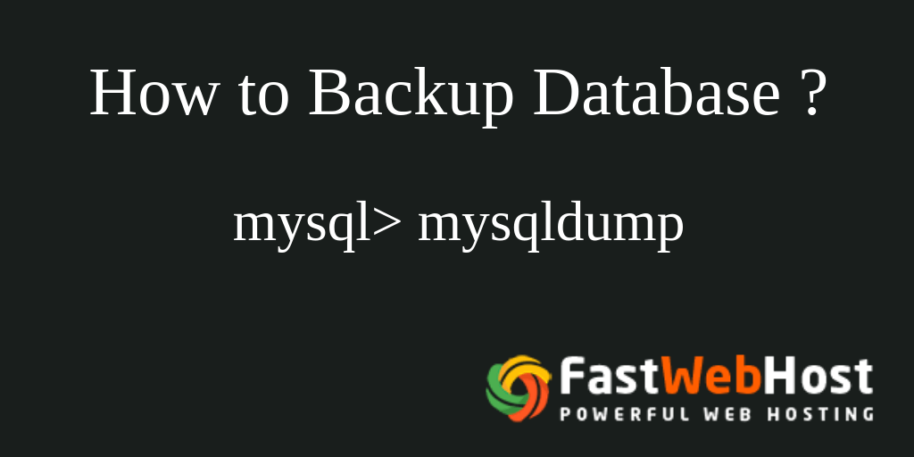 How To Backup MySQL Databases Via Command Line