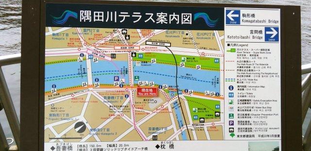 隅田川テラス案内図