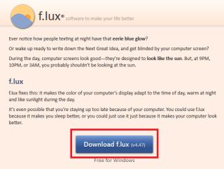 f.lux- ダウンロードボタン