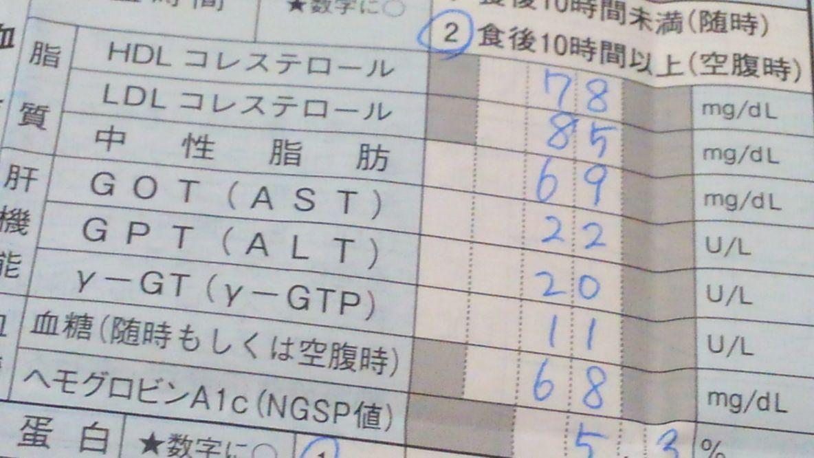 コレステロールetc検査値1年