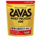 SAVASホエイプロテイン100 ココア味1050g 約50食分 FiNCモール